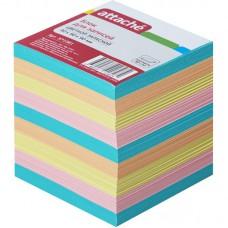 """Блок бумаги 9*9*9см. """"Attache""""  цветной"""