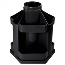 Подставка для ручек Стамм вращ. MiniDesk черная