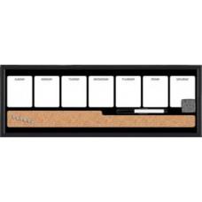 Доска для информации комбинированная пробковая/магнитно-маркерная Bi-Office 60x20 см серый