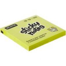 Блок стикеров Attache Selection 76x76мм желтые Неон (100 листов)