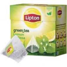 Чай Lipton Lemon Melissa зеленый с лимоном и мелиссой 20 пакетиков