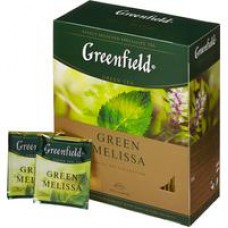Чай Greenfield Green Melissa зеленый 100 пакетиков в Екатеринбурге