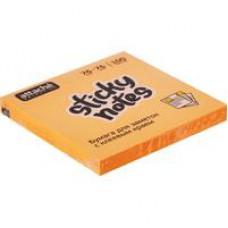 Блок стикеров  Attache Selection 76x76мм оранжевые Неон (100 листов)
