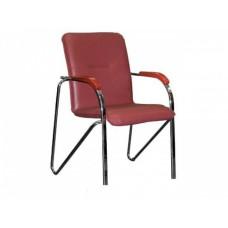 Кресло Samba бордовое (искусственная кожа/хром) в Екатеринбурге