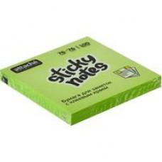 Блок стикеров Attache Selection 76x76мм зеленые Неон (100 листов)