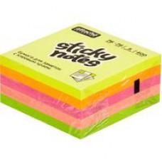 Блок стикеров радуга неон  75*75  400 л.