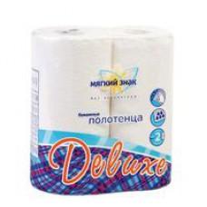 Полотенца бумажные Мягкий знак Deluxe с тиснением двухслойные (2шт/12 м)