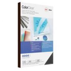 Обложки для переплета пластиковые GBC А4 прозрачные дымчатые 180мкм