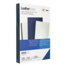 Обложки для переплета картонные GBC А4 кожа голубые