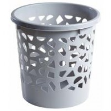 Корзина для мусора с держателем 10л (пластик, серая)