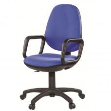 Кресло Comfort синее (ткань/пластик)