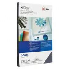 Обложки для переплета пластиковые GBC прозрачные 150 мкм