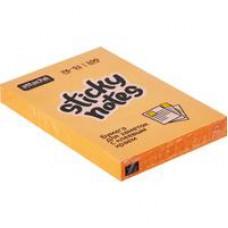 Блок стикеров Attache Selection 76x51 мм оранжевые Неон (100 листов)
