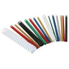 Пружины для переплета пластиковые ProMega Office 8мм красные 100шт/уп.