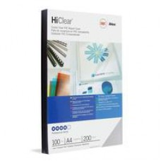 Обложки для переплета пластиковые GBC А4 прозрачные синие 180мкм