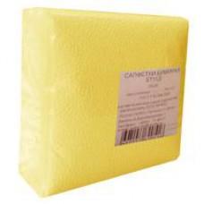 Салфетки бумажные (1-слойные, 24x24 см, желтые )