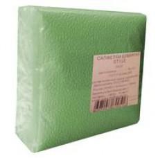 Салфетки бумажные  (1-слойные, 24x24 см,салатовые)