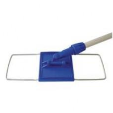 Швабра-флаундер для мытья пола 40х10см, сталь, в сборе без насадки