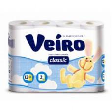 Бумага туалетная Linia Veiro Classic 2-слойная 140л. (12 шт/уп)