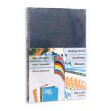 Обложки для переплета Profi Office пластиковые (A4, тонированные дымчатые, толщина 200мкм, 100 шт./уп.)