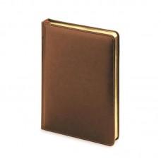 Ежедневник н/дат. А-5 АЛЬТ SIDNEY 136л. (145*210) прошивной, золотой срез, коричневый