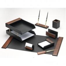 Набор настольный деревянный (8 предметов)темный орех