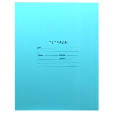 Тетрадь 12 л. линейка (голубая)