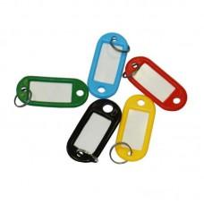 Бирка для ключей 10 шт/уп, ассорти, (5 цветов по 2шт.)