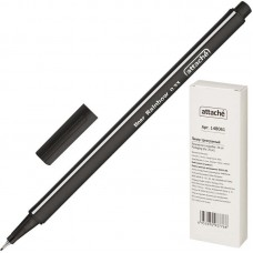 Ручка капиллярная (линер) Attache Rainbow 0.4 мм.черная