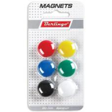 Магниты для доски 20мм (6шт.) ассорти