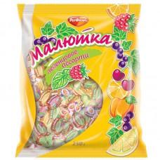 Леденцы Малютка ассорти 4 вкуса, 250 гр.
