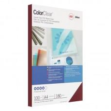 Обложки для переплета пластиковые GBC А4 прозрачные красные 180мкм