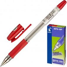 Ручка шариковая Pilot  BPS-GP F  0.7мм красная с резин. манж