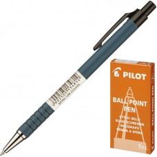 Ручка шариковая Pilot  BPRК-10М  0,7мм синяя мет.нак., черный прорез.корп.
