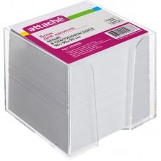 Блок бумаги 90*90*90 мм. в пластиковом корпусе,белый