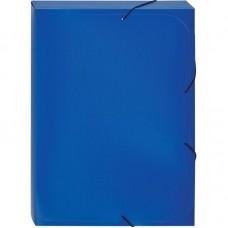 Папка-короб  на резинке Attache А4 пластиковая синяя (0.45 мм, до 250 листов)