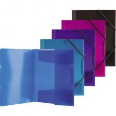 Папка на резинке  0.6мм плотная в ассортименте