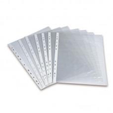 Папка-файл А4  50 мкм. гладкий прозрачный (50 шт/уп)