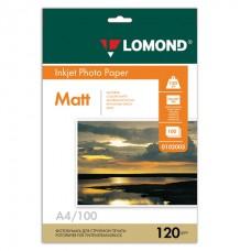 Фотобумага А4  120 гр/м LOMOND матовая 100л. д/струйной печати