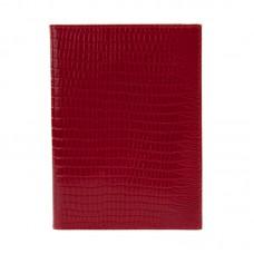 Обложка для паспорта Fabula Reptile  нат.кожа, красный