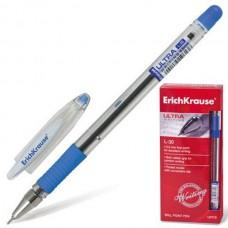 Ручка шариковая ERICH KRAUSE Ultra Semi-gel  L-20  0,6мм синяя иг. нак., мет.нак., проз.корп.,  масляная основа