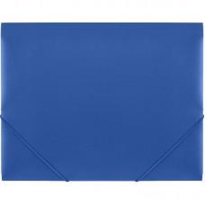 Папка на резинке синяя Attache А4 пластиковая плотная (0.6 мм, до 200 листов)