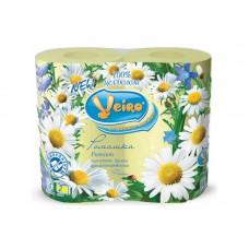 Бумага туалетная Linia Veiro цветная в ассортименте (4шт/уп)