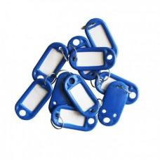 Бирка для ключей 10 шт/уп.синяя