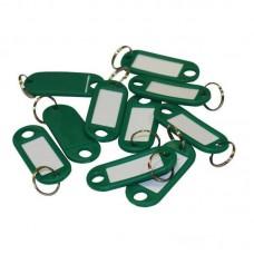 Бирка для ключей 10 шт/уп. зеленая